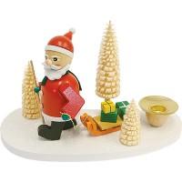 Richard Glässer Kerzenhalter Weihnachtsmann mit Schlitten