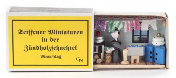 Dregeno Erzgebirge - Zündholzschachtel Waschtag
