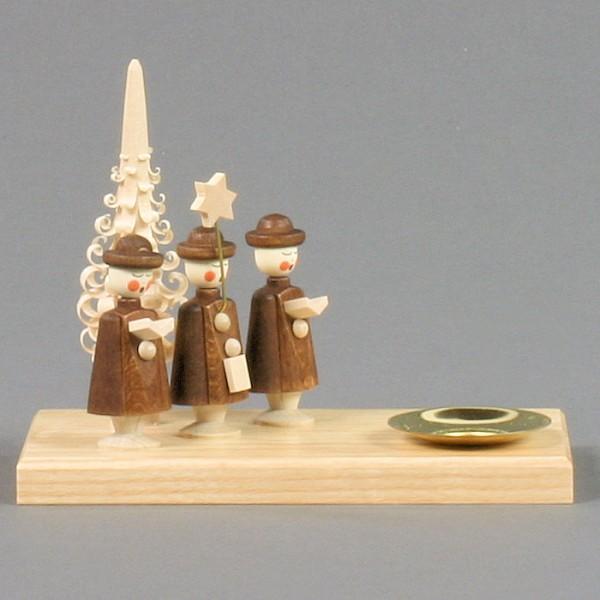 Dregeno Erzgebirge - Kerzenhalter mit Kurrende - 10cm