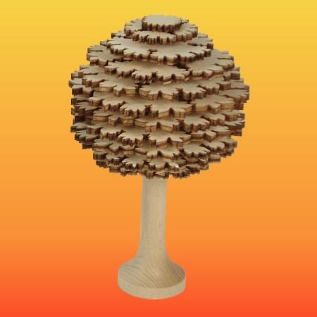 Lenk & Sohn Erzgebirgischer Schichtenbaum Laubbaum 10cm natur