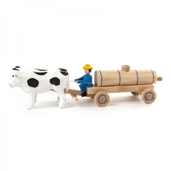 Dregeno Erzgebirge - Miniatur-Ochsen mit Jauchewagen