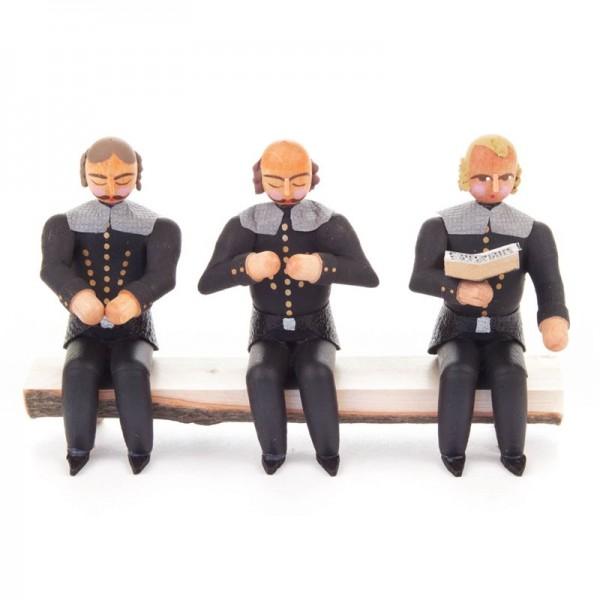 Dregeno Erzgebirge - Miniatur-Sitzende Bergleute auf Bank