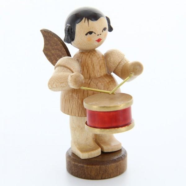 Uhlig Engel stehend mit Trommel, natur, handbemalt
