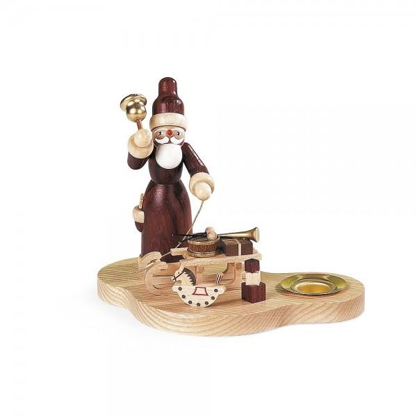 Müller Kerzenhalter Weihnachtsmann mit Gabenschlitten natur