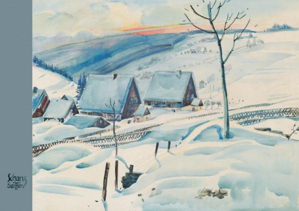 Dregeno Erzgebirge - Künstlerkarte Max Schanz »Farben des Gebirges«, Winterlandschaft