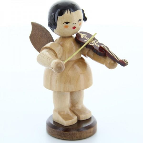 Uhlig Engel groß stehend mit Violine, natur, handbemalt