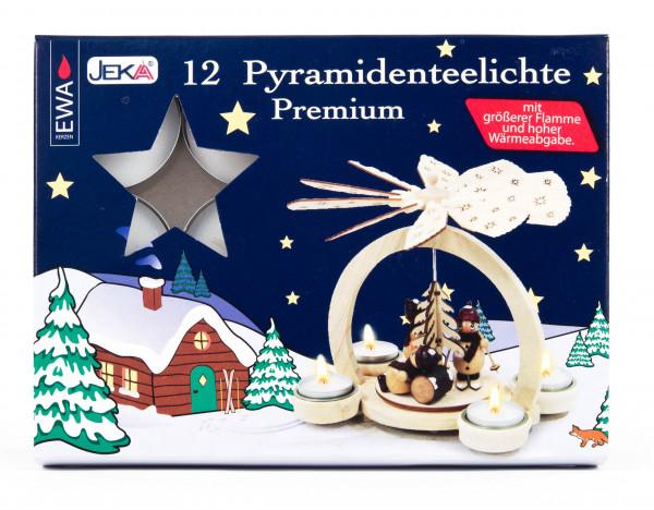 Dregeno Erzgebirge - Pyramidenteelichte Premium (12) UK 24