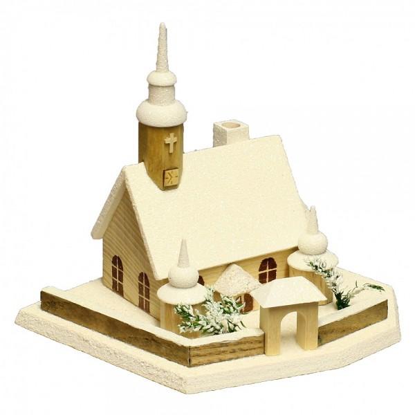 HELA Holzkunst - Kirche Crottendorf Glimmer