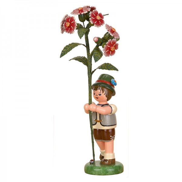 Hubrig Blumenkinder 17cm Junge mit Buschnelke