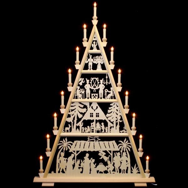 Holzkunst Niederle - Lichterspitze 5 Etagen - christliches Motiv