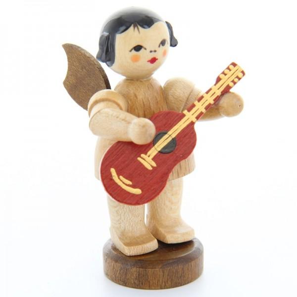 Uhlig Engel stehend mit Gitarre, natur, handbemalt