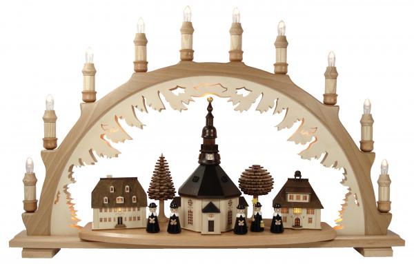 Lenk & Sohn - Schwibbogen Seiffener Kirche, Kurrende