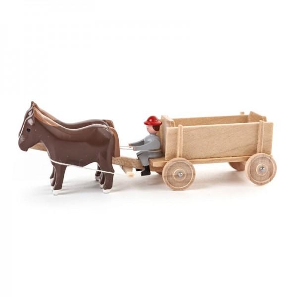 Dregeno Erzgebirge - Miniatur-Pferde mit Kastenwagen