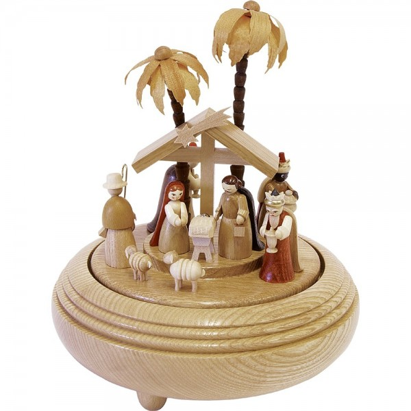 Richard Glässer Spieldose Christi Geburt natur