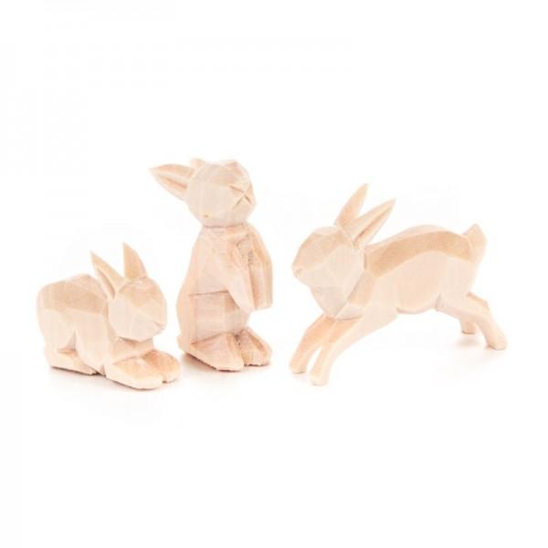 Dregeno Erzgebirge - Miniatur-Geschnitzte Hasen