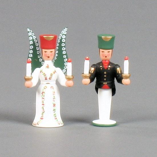 Dregeno Erzgebirge - Miniatur Engel und Bergmann - 7cm