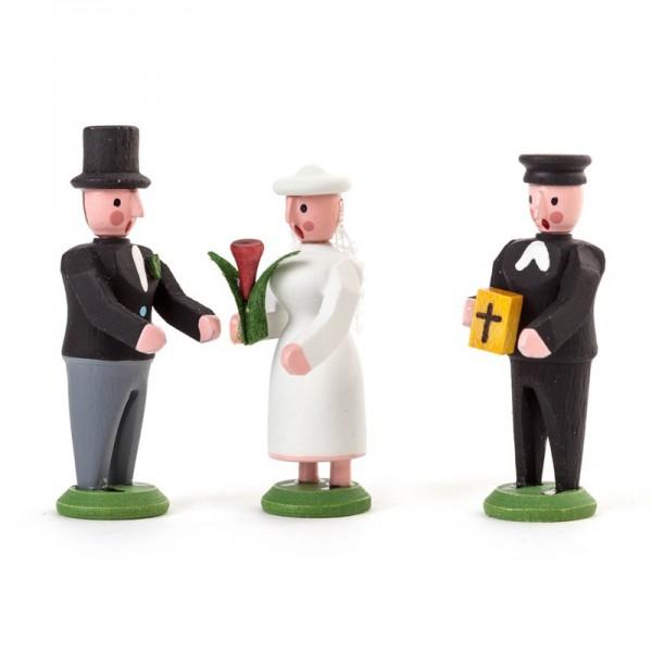 Dregeno Erzgebirge - Miniatur-Brautpaar und Pfarrer