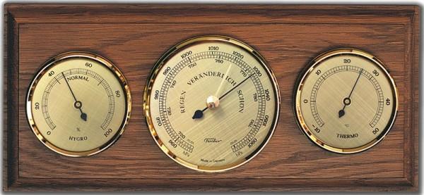 Fischer Wetterstation Klassik mit Holzgehäuse 265x120mm