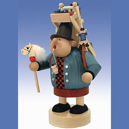 KWO Räuchermann Erzgebirge Spielzeughändler 23cm