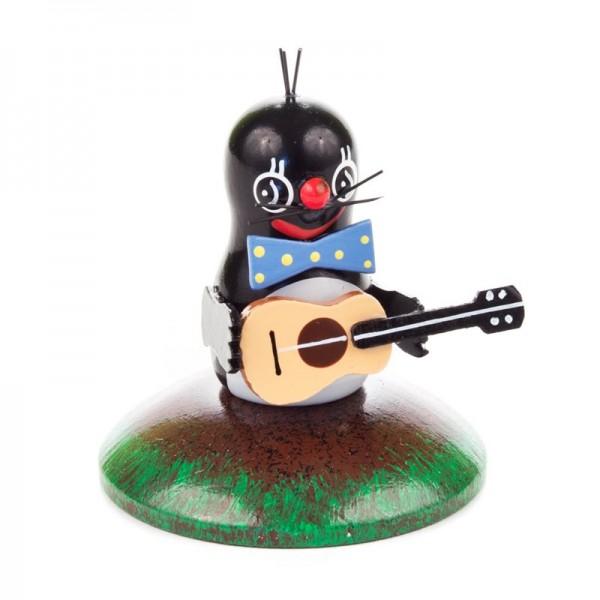 Dregeno Erzgebirge - Miniatur-Maulwurf, Musikant, Gitarre