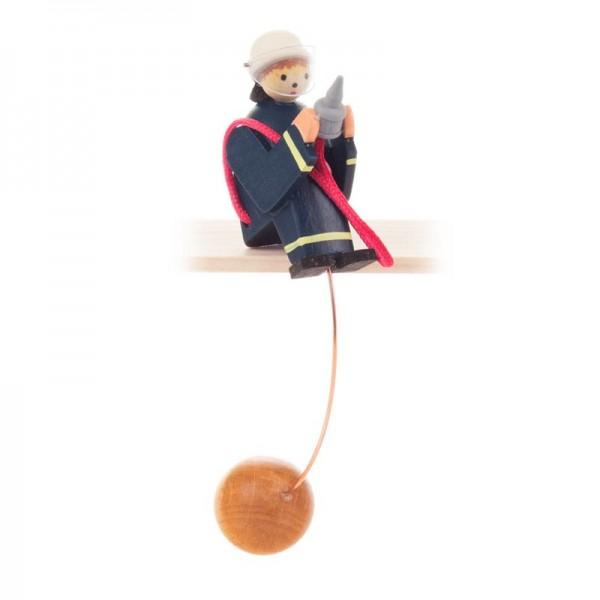 Dregeno Erzgebirge - Miniatur-Schaukelfigur Feuerwehrmann
