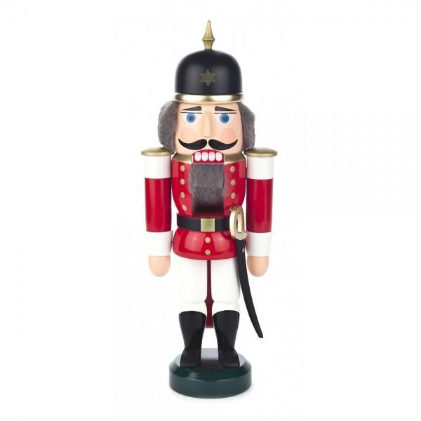 Dregeno Erzgebirge - Nussknacker Soldat rot klein - 28cm