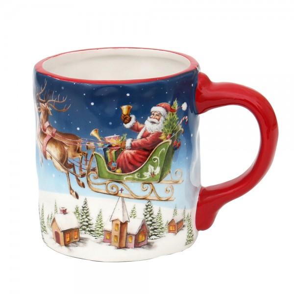 Restposten - Dolomite Kaffeepot Santa auf Rentierschlitten 14,8 x 10 x 11 cm
