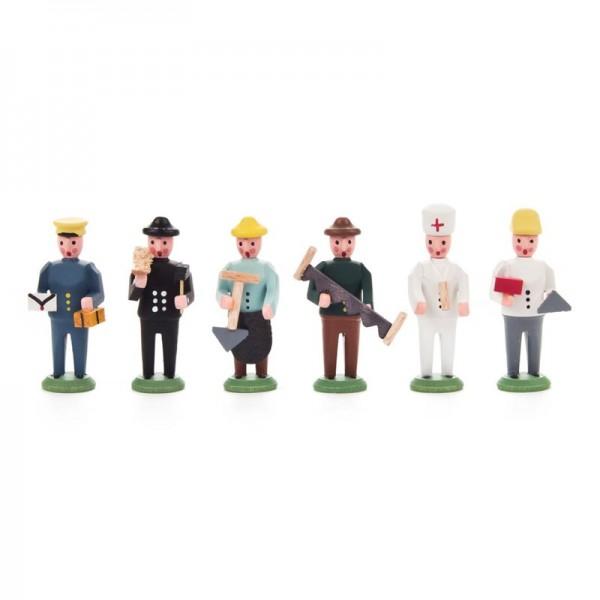 Dregeno Erzgebirge - Miniatur-Berufsgruppe Satz 2 mit 6 Figuren