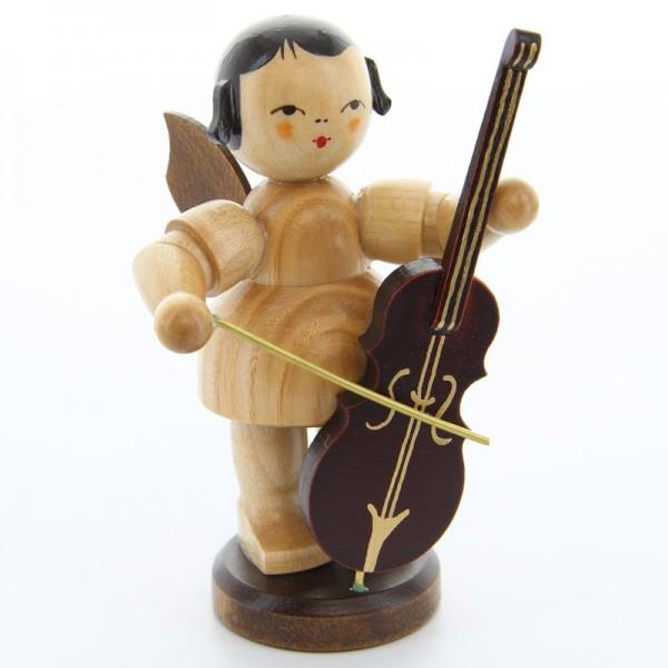 Uhlig Engel groß stehend mit Cello, natur, handbemalt