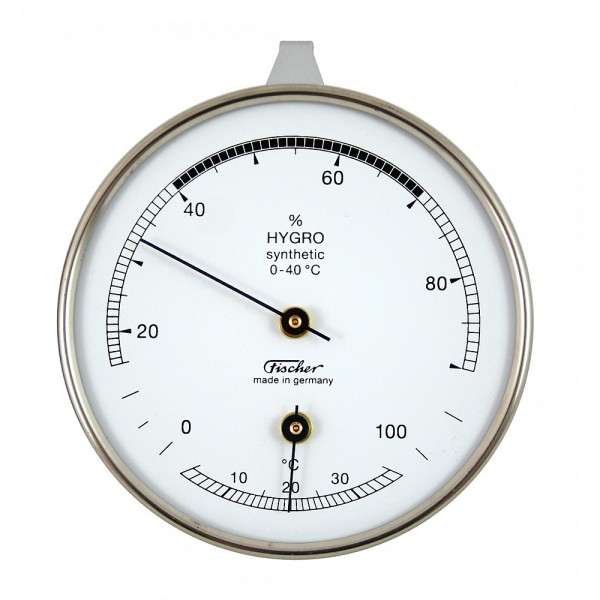 Fischer Hygrometer synthetic mit Thermometer 87mm - Life-Design