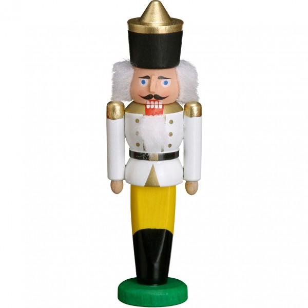 Mini-Nussknacker - König Weiss 9cm