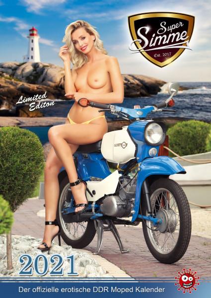 Der offizielle erotische DDR Moped Kalender - Super Simme 2021