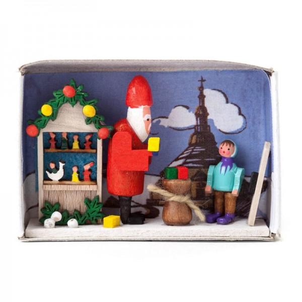Dregeno Erzgebirge - Miniatur-Zündholzschachtel Weihnachtszeit