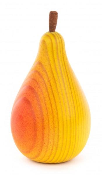 Dregeno Erzgebirge - Holzbirne mehrfarbig, gelb-rot