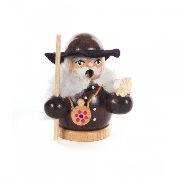 Dregeno Erzgebirge - Miniatur-Räuchermann Schäfer - 8cm
