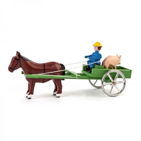 Dregeno Erzgebirge - Miniatur-Wagen mit Schweinen