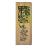 """Holzbrett mit Jagdgedicht """"Ich bin der Wald"""""""