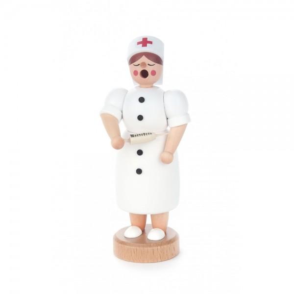 Dregeno Erzgebirge - Miniatur-Räucherfrau Krankenschwester