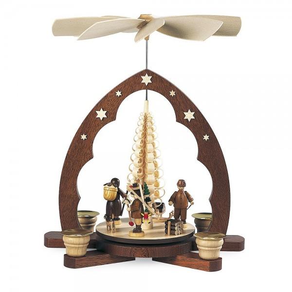 Müller Pyramide Erzgebirgsfiguren Spitzbogen 30cm