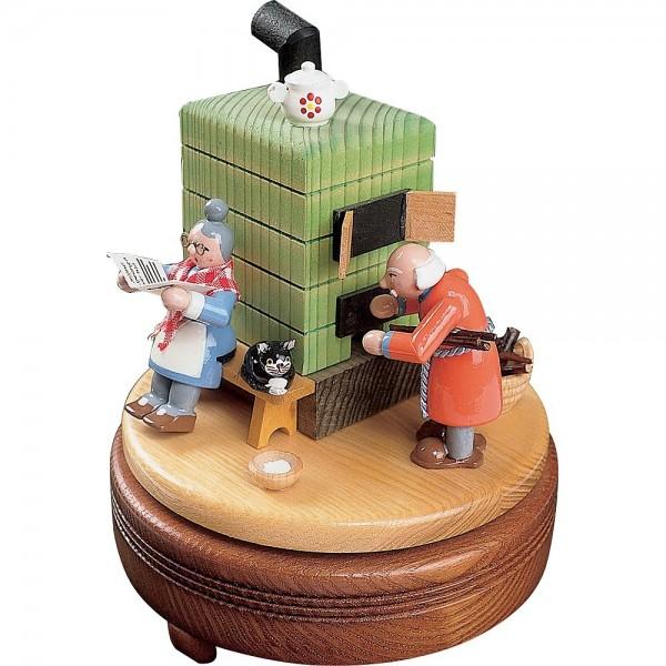 Richard Glässer Spieldose Feierabend mit Rauchofen