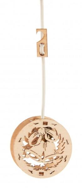 Dregeno Erzgebirge - Miniatur-Fensterbild Glocken mit Beleuchtung 12V