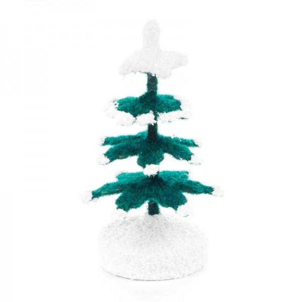 Dregeno Erzgebirge - Miniatur-Fichten, grün/weiß, 5,4 cm