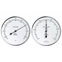 Fischer Wetter-Set - Thermometer und Haar-Hygrometer synthetic im Edelstahlgehäuse