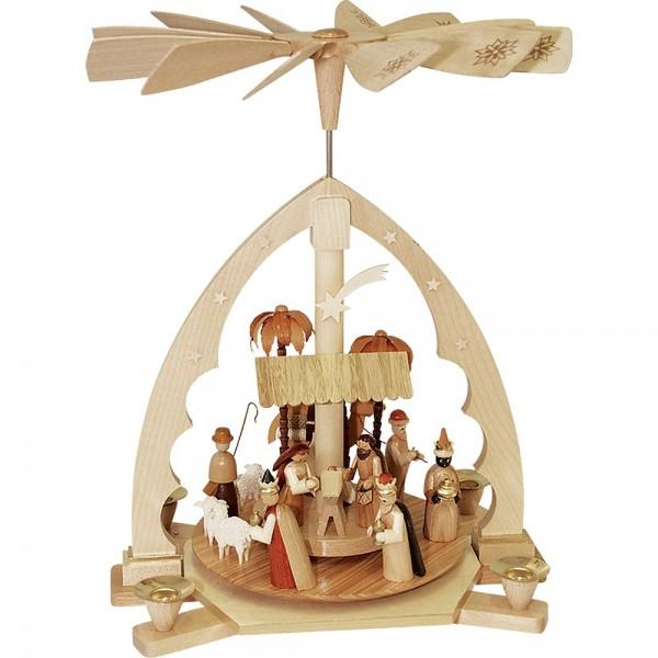 Richard Glässer Erzgebirgspyramide Christi Geburt 40cm