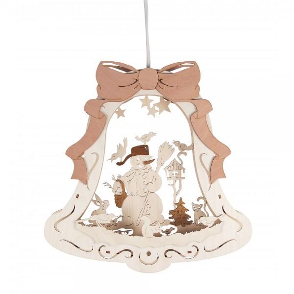 Dregeno Erzgebirge - Fensterbild Glocke mit LED