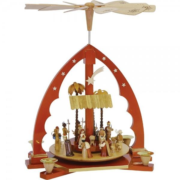 Richard Glässer Erzgebirgspyramide Christi Geburt natur 40cm