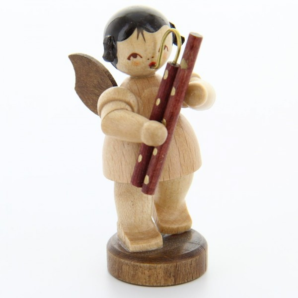 Uhlig Engel stehend mit Fagott, natur, handbemalt