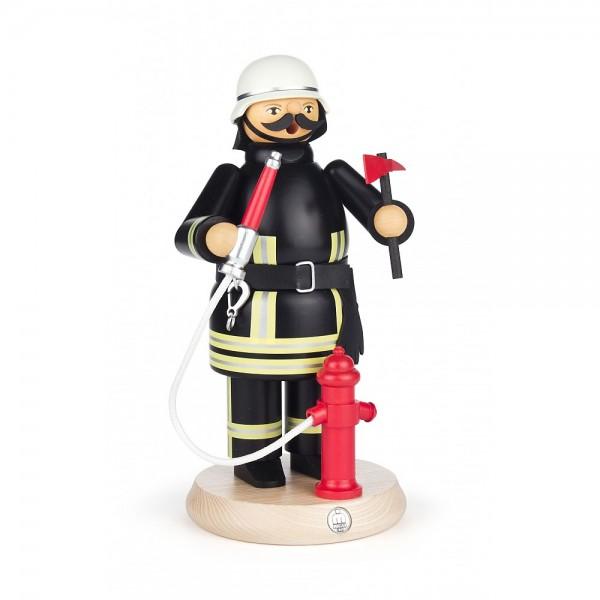 Dregeno Erzgebirge - Räuchermann Feuerwehrmann mit Hydrant - 22cm