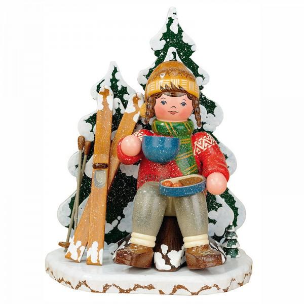 Hubrig Winterkinder Räuchermann Schneeschuhfahrerin