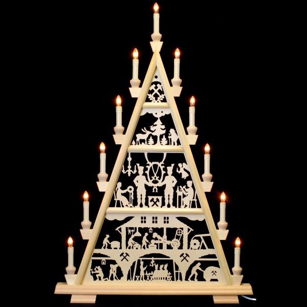 Holzkunst Niederle - Lichterspitze 4 Etagen - Hammerschmiede